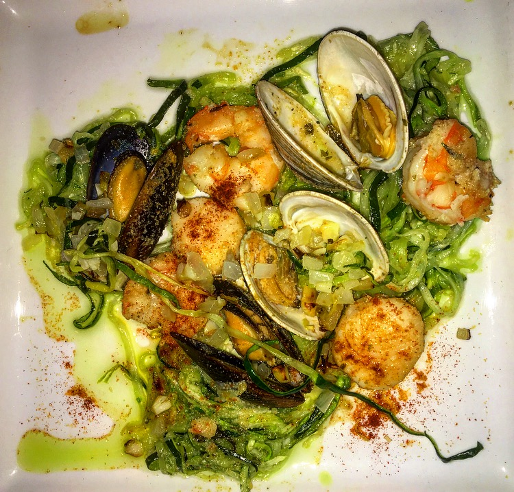 Seafood with Zucchini Noodles Made by Aidan Mack